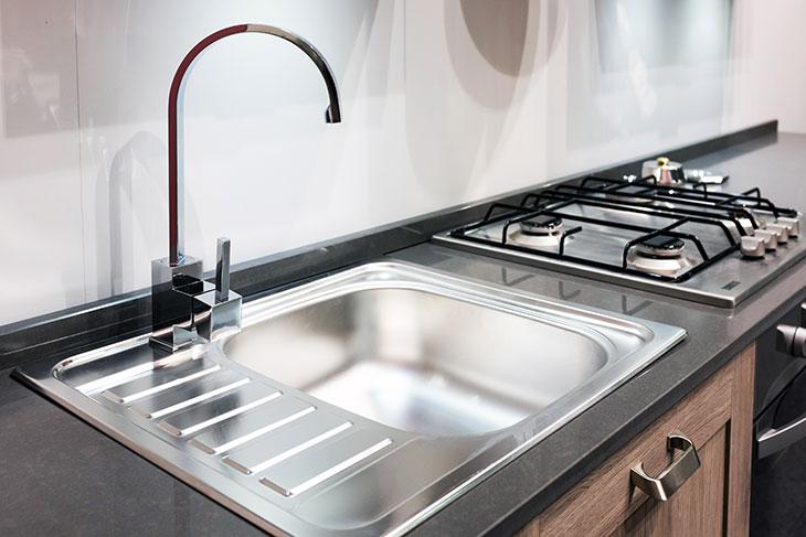Empty kitchen sink