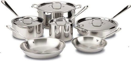 all-clad-401488r-tri-ply-bonded-stainless-steel-cookware-set