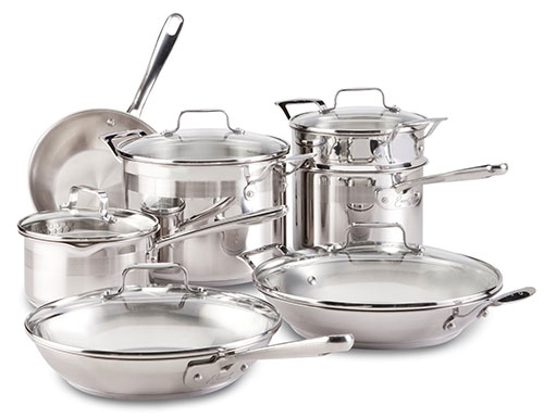 emeril-by-all-clad-e884sc-chefs-stainless-steel-cookware-set